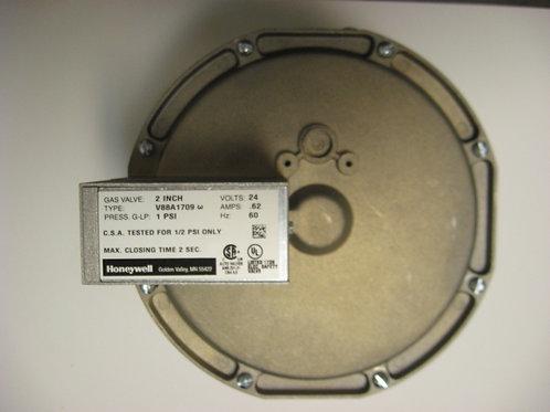 "V88A1709 Honeywell 2"" 24V Diaphragm Gas Valve On-Off"