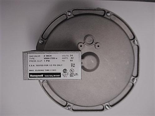 """004096F Raypak/Honeywell 2"""" 24v Diaphragm Gas Valve On-Off"""