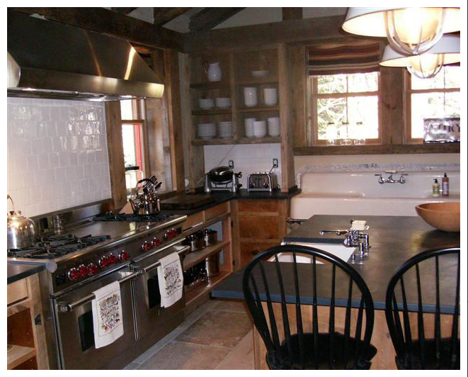 Sugar Bowl Rustic Cabin Kitchen