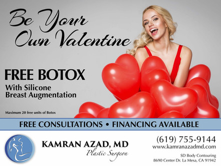 Free BOTOX with Silicone Breast Augmentation in February!