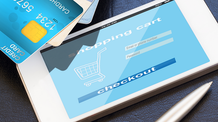 Bmi eCommerce Solutions image of tablet shopping cart
