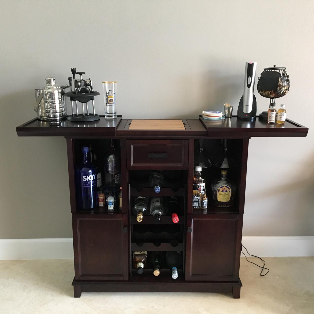 Brad builds a empty nester's bar