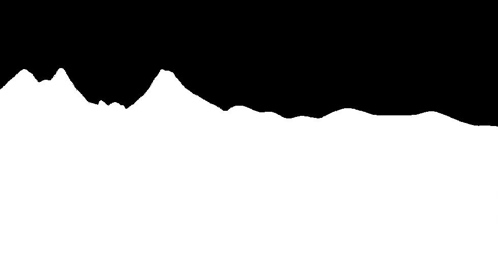 White Mountains on transparent backgroun