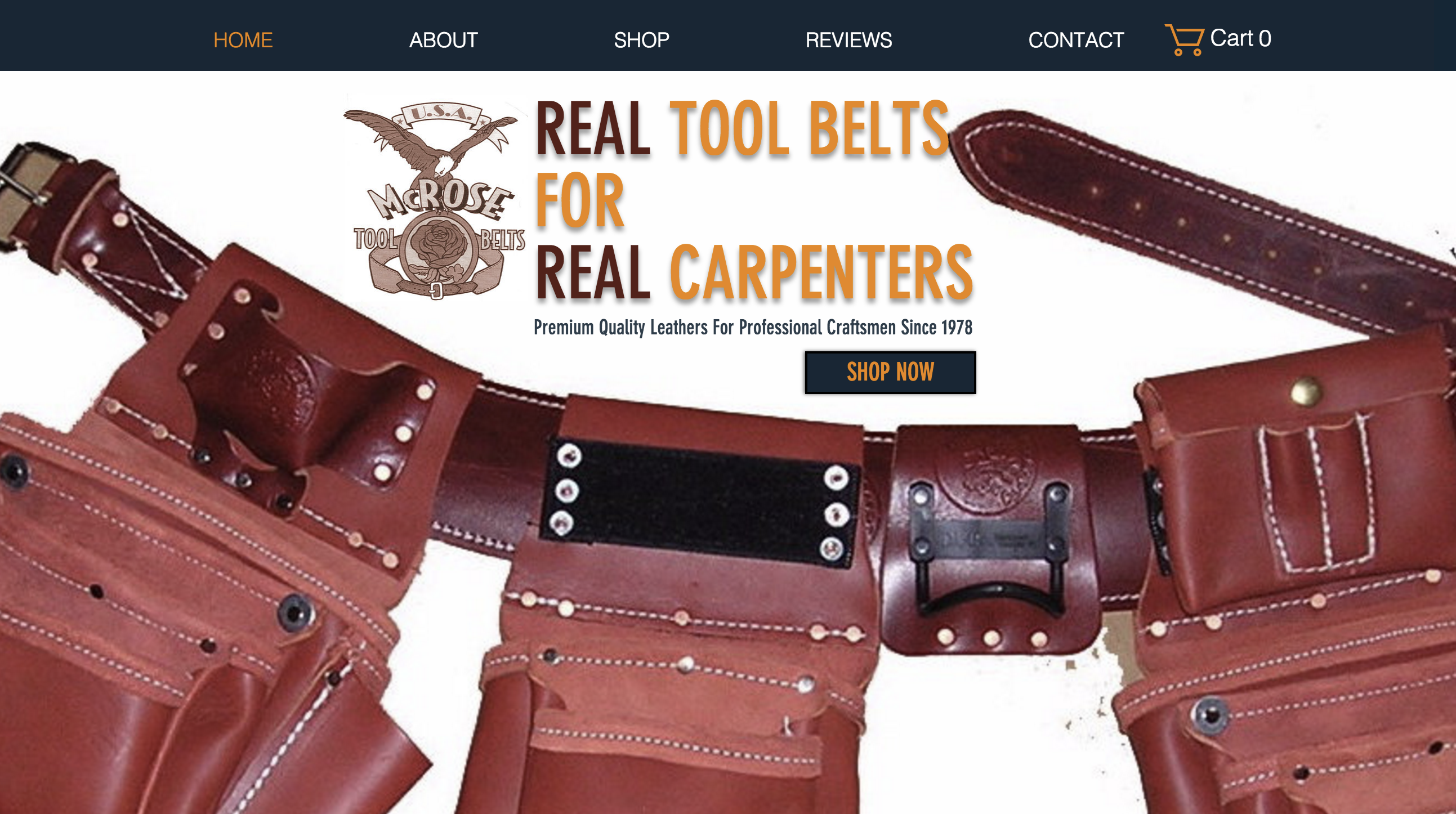 mcrose tool belts leather custom carpenter