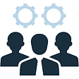 Micro Force Help Desk Support Team Icon.