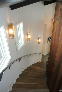 Staircase at the West Shore project