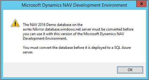 Dynamics NAV 2016 CU Apply Error on Azure SQL DB.v2