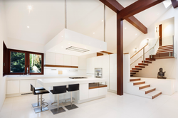 Remodeled Kitchen in Truckee River House