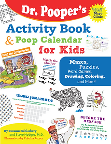 Dr. Pooper Activity Book and Poop Calendar for Kids