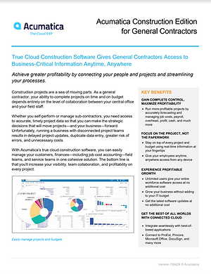 Acumatica Cloud ERP Product Overview