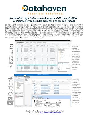 Datahaven For Dynamics Brochure