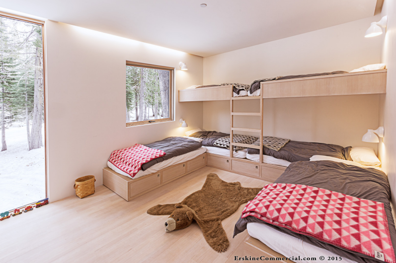 Modern Custom Tahoe Home Bunk Room
