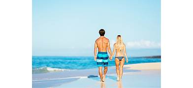 Dr. kamran Azad Plastic Surgery Couple walking on beach