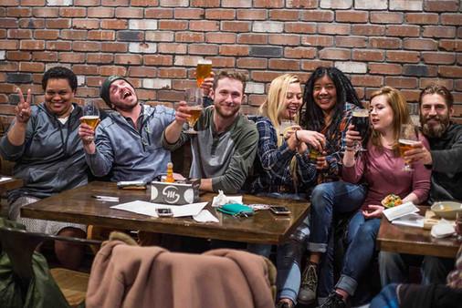 Silver Moon Brewing Pub Customers Sittin