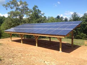 Wood Solar Pergola, Murphy, NC