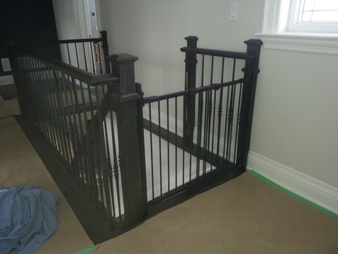 Gate blends into the existing spindles