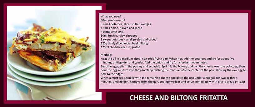 cheese and biltong fritatta