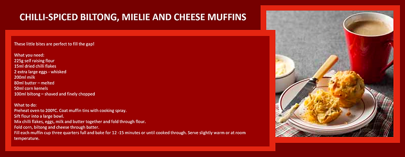 biltong mielie and cheese muffins