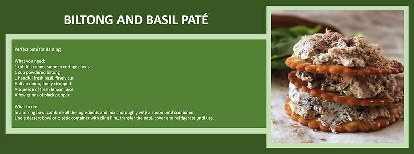 biltong and basil pate