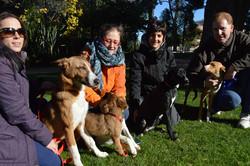 Voluntarios en el parque
