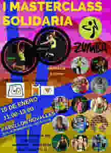 Masterclass solidaria de zumba en Novallas (Zaragoza).