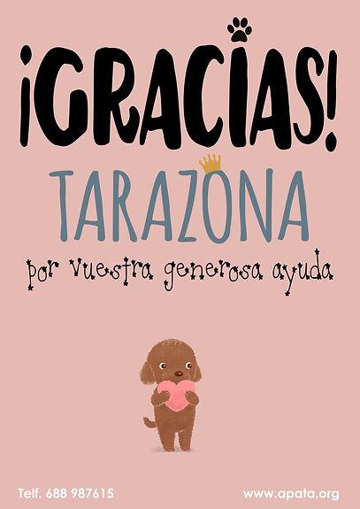 Gracias por la ayuda de todos a la protectora de animales de Tarazona (Zaragoza)
