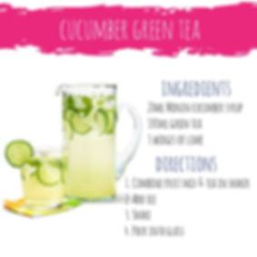 Cucumber Green Tea Mojito mocktail cocktail