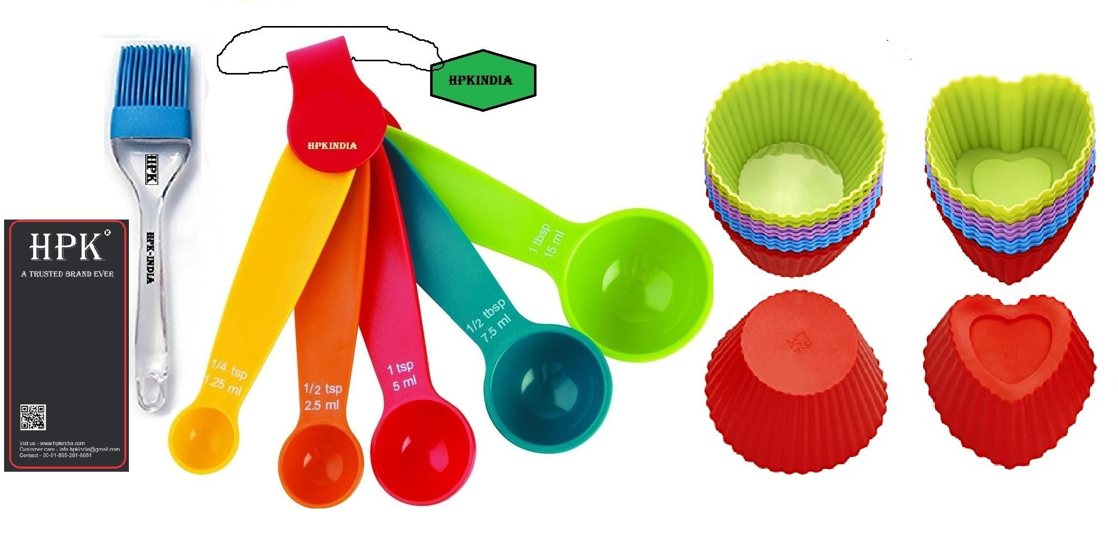 hpk-Baking-Measurement-Measuring-spoons-pastry brush and  heart and round molds Set