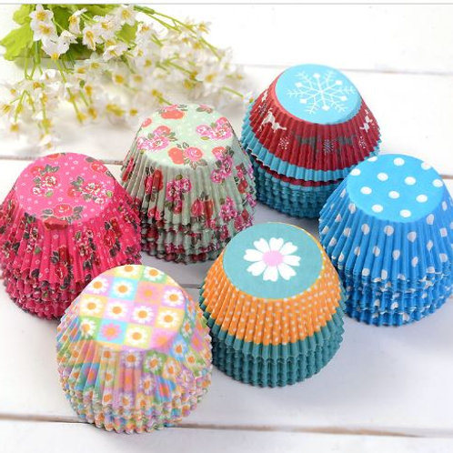 300 Mix Designed Baking Paper Cups