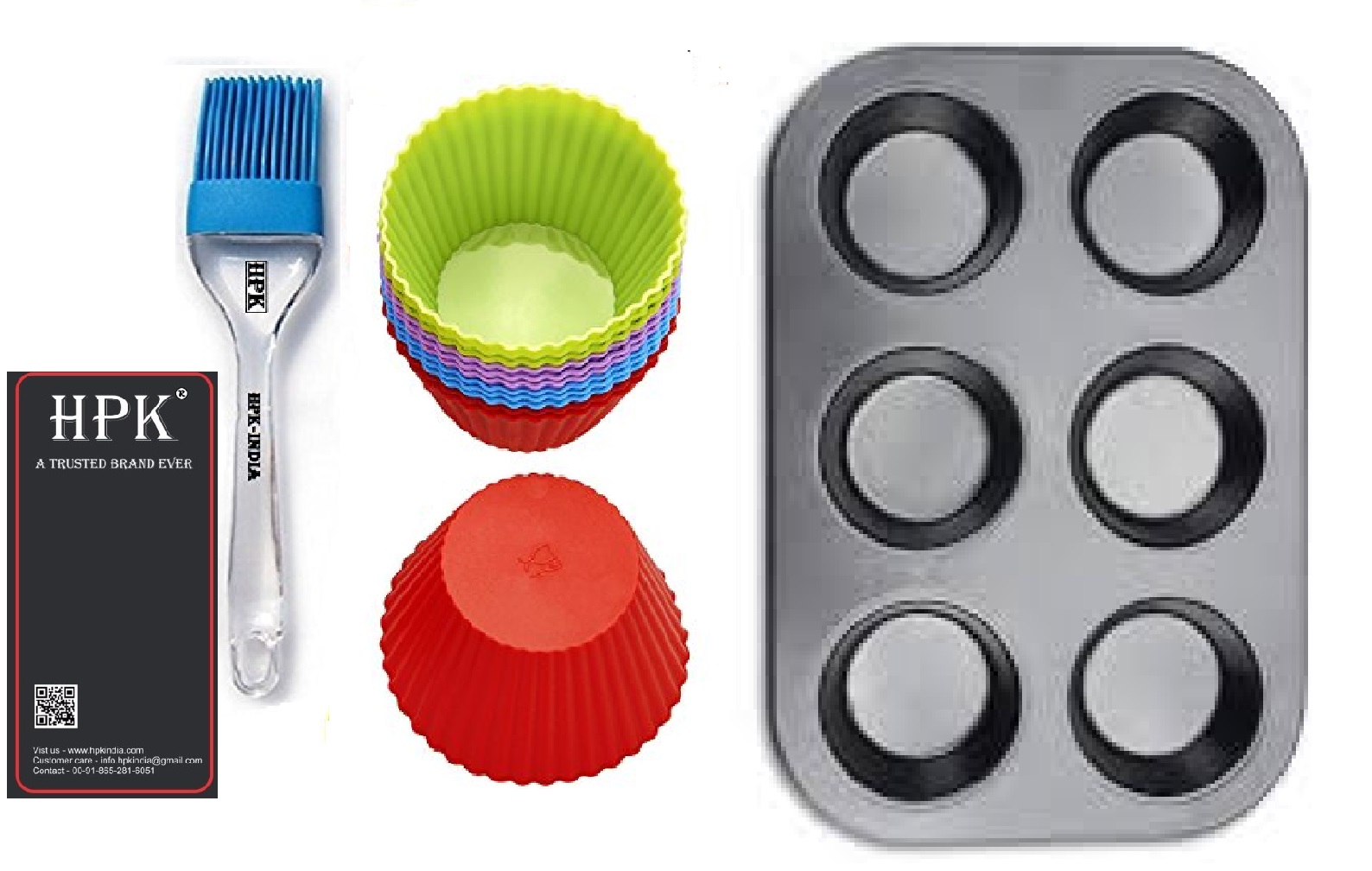 hpk-brsuh round molds muffin tray  round  molds Set
