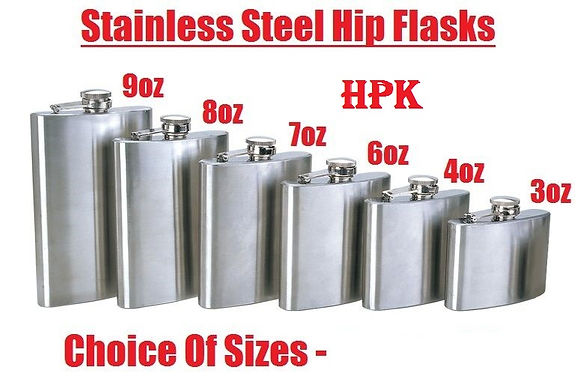 Corporate gift set of hip flask 3