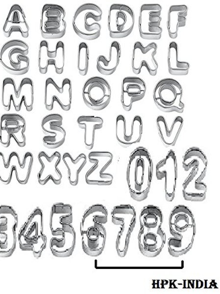 Alphabet Number Cookie Cutter
