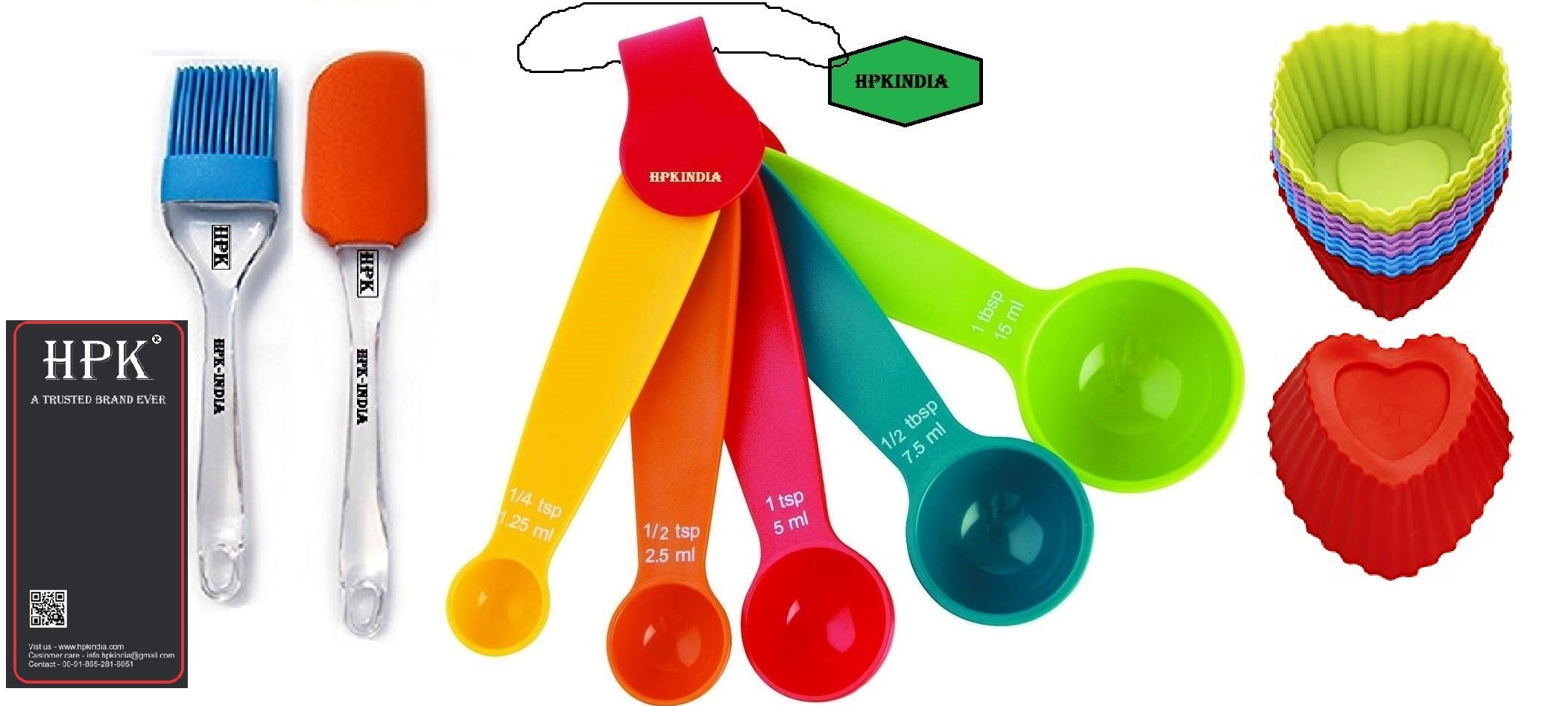 hpk-Baking-Measurement-Measuring-spoons-pastry brush and spatula Set heart molds