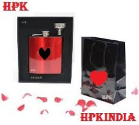 Corporate gift set of hip flask 1