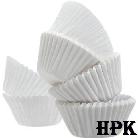 White baking cups 100 pcs