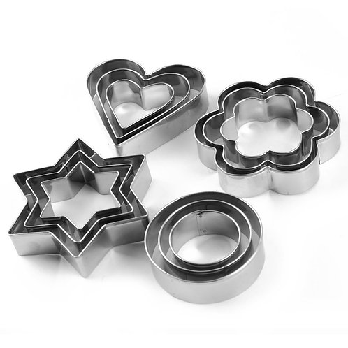 Stainless Steel Cookie Cutter Set 12-Pieces