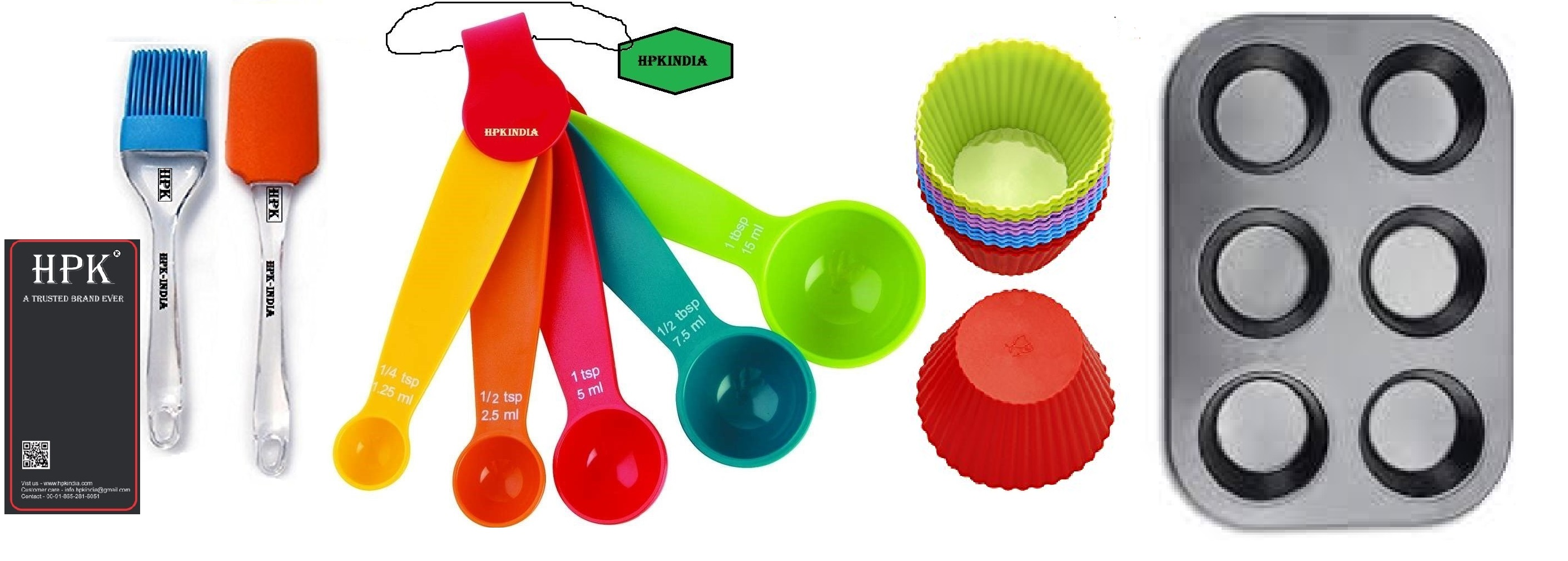 hpk-brsuh spatula round molds muffin tray measuring spoons  round  molds Set