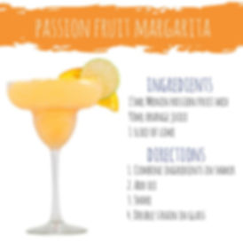 Passion Fruit Margrita Mojito mocktail cocktail