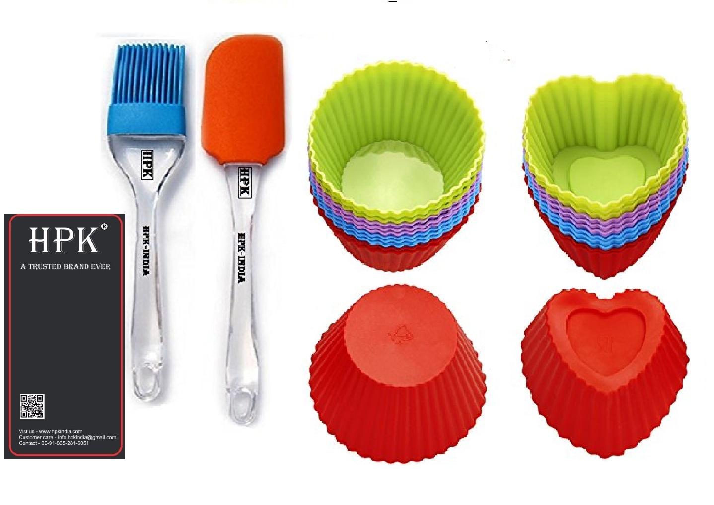 hpk-brsu spatula- heart round  molds Set