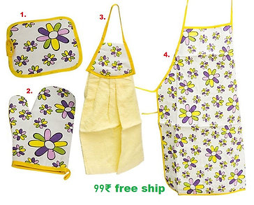 4 in 1 apron set