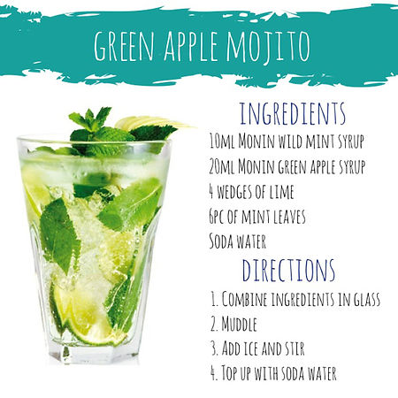 Green Apple Mojito mocktail cocktail