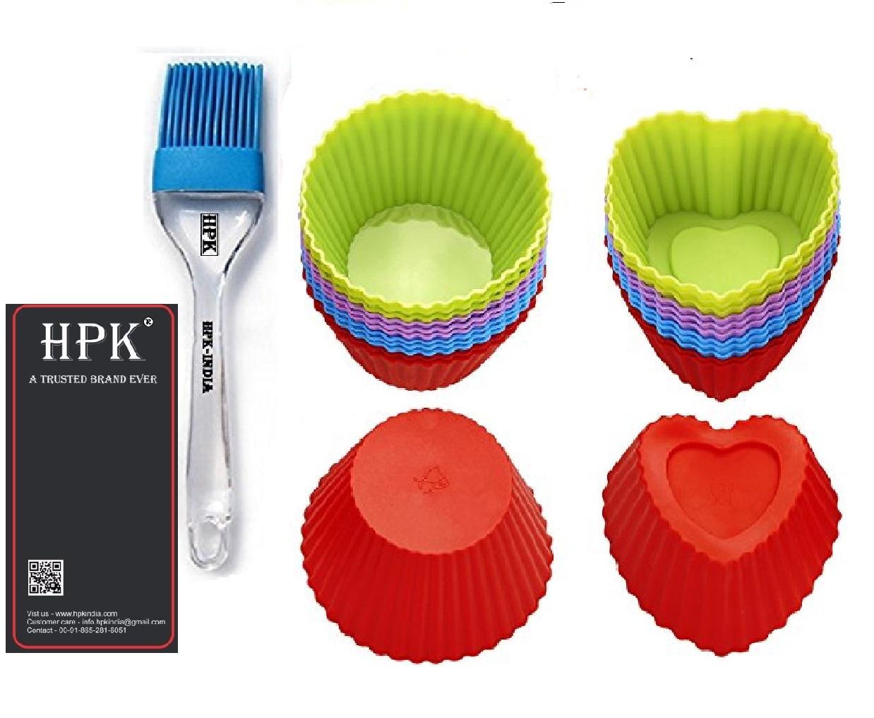 hpk-brsuh heart round  molds Set