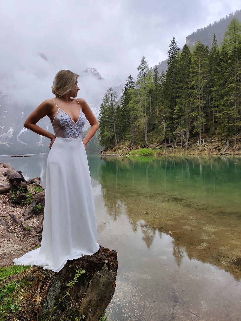 Modelo: Manu Dequigiovanni. Local: Lago Di Braies (Itália)