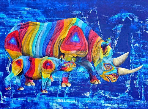 Rainbow Rhinos 12