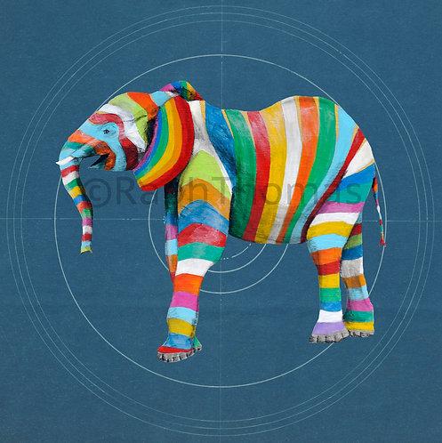 Striped Elephant 2 on Blueprint
