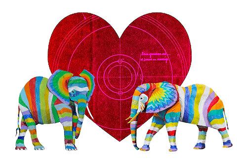 Valentines Landscape Elephants 1