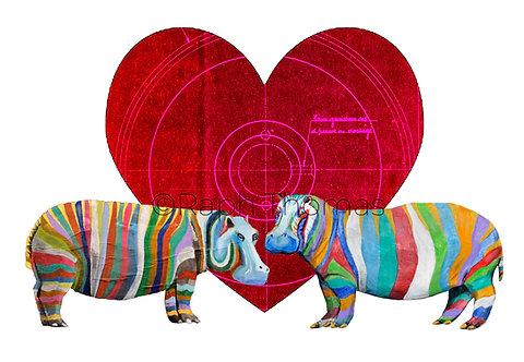 Valentines Landscape Hippos 1