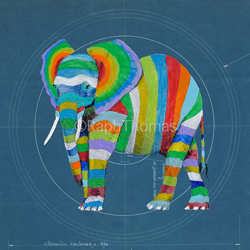 Striped Elephant 3 on Blueprint