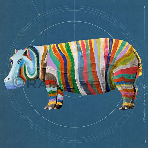 Rainbow Hippo 1 on Blueprint