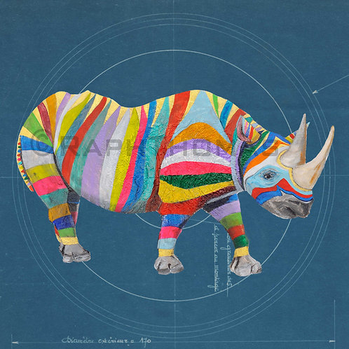 Rainbow Rhino 1 on Blueprint